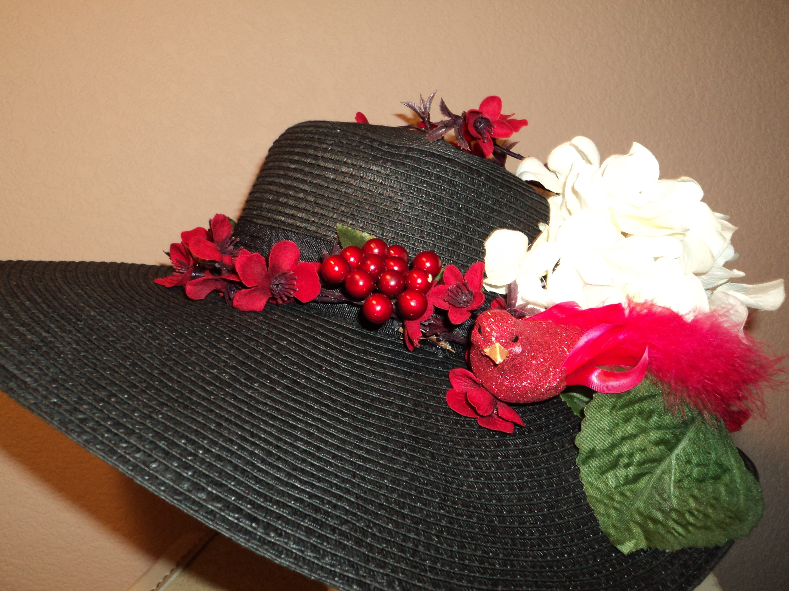Red Flower Hats